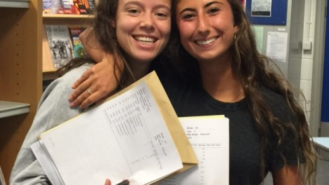 Immanuel students with their results