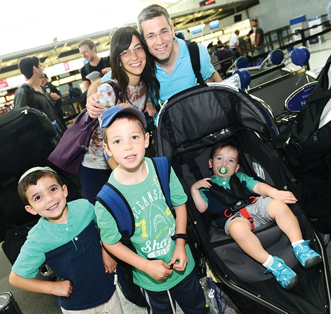 Yael and Yonatan Orlinsky and their three sons moved from Bergenfield to Israel.