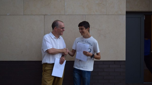 JCoss:  Patrick Moriarty with Aviv Silver who got 12A