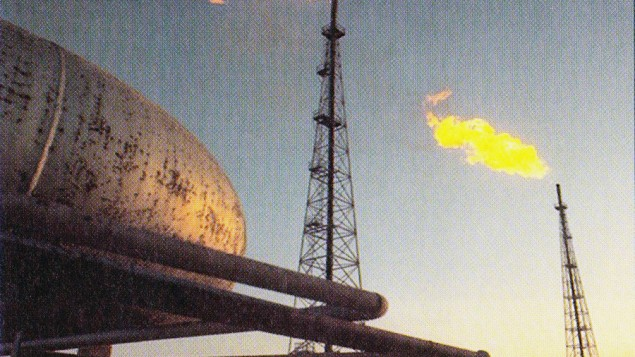 Abadan oil refinery in Iran