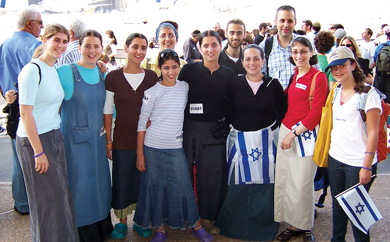 NIne years ago, Jewish Standard correspondent Abby Leichman, second from right, and her husband made aliyah from Teaneck.