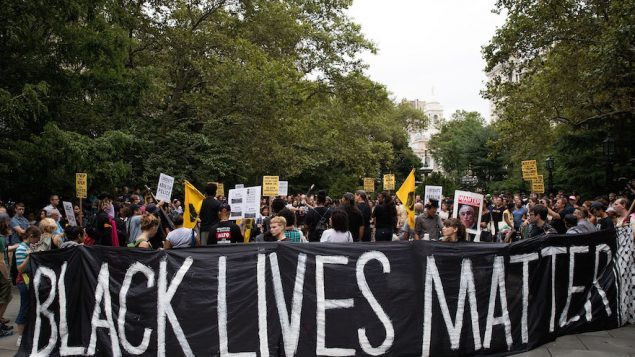 Black Lives Matter protestors at City Hall Park in New York City, Aug. 1, 2016. JTA