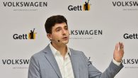 Gett's CEO Shahar Waiser addresses a press conference in Berlin on June 1, 2016. JOHN MACDOUGALL/AFP/Getty Images