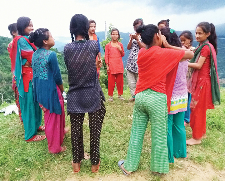 Tevel works with young girls on the problems they face in their villages and provides them with a safe space to meet.