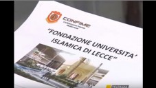 A document showing the Islamic University in Lecce, Italy on February 28, 2016. (screen capture: YouTube, via Times of Israel)