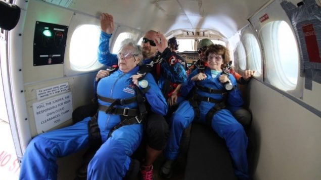 Skydiving Grandmas Celebrate 90th Birthday 1
