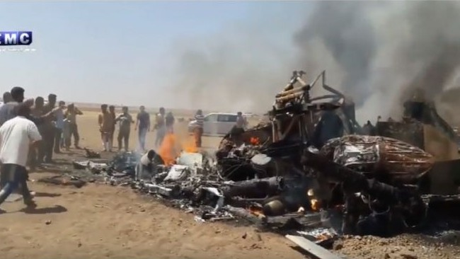 Russian Military Helicopter Shot Down in Syria