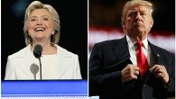 Hillary Clinton speaking on the fourth day of the Democratic National Convention in Philadelphia, July 28 and Donald Trump. JTA