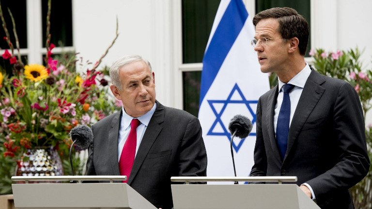 Image result for rutte netanyahu