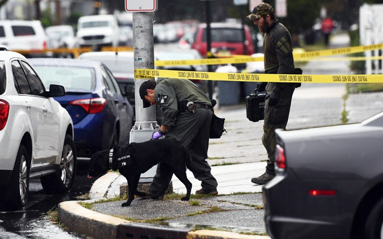 Investigators with the Federal Bureau of Investigation leave after searching the family restaurant and adjoined apartment of Ahmad Khan Rahami in Elizabeth New Jersey