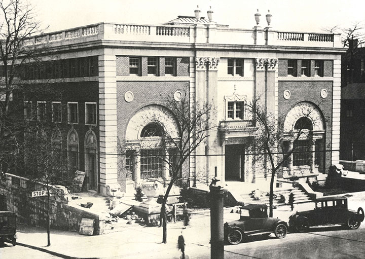 The Newark Y at the corner of High Street (now MLK Boulevard) and Kinney Street, funded wholly by Louis Bamberger.
