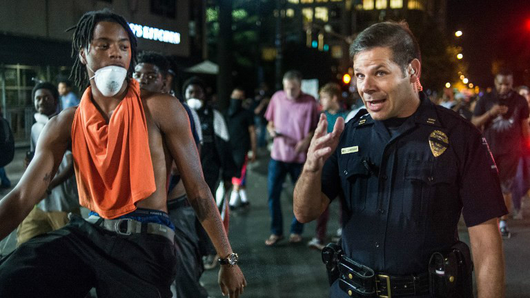 Third night of protests in Charlotte amid heavy security ...