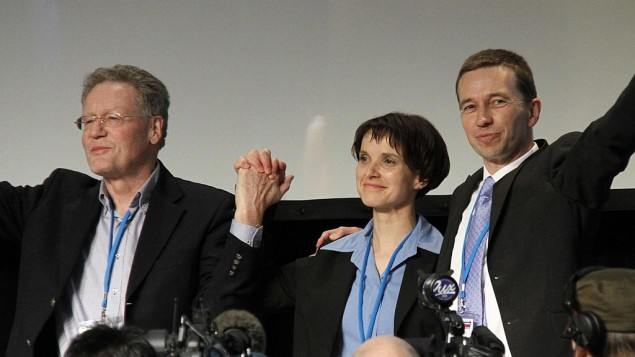 Members of the AfD during their first convention in 2013 in Berlin