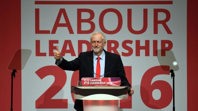 Jeremy Corbyn celebrates his victory following the announcement of the winner in the Labour leadership contest between him and Owen Smith at the ACC Liverpool. PRESS ASSOCIATION Photo. Picture date: Saturday September 24, 2016. See PA story LABOUR Main. Photo credit should read: Danny Lawson/PA Wire