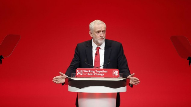 Labour Party leader Jeremy Corbyn delivers his keynote speech on the final day of the Labour Party conference in Liverpool. (Photo credit: Danny Lawson/PA Wire)