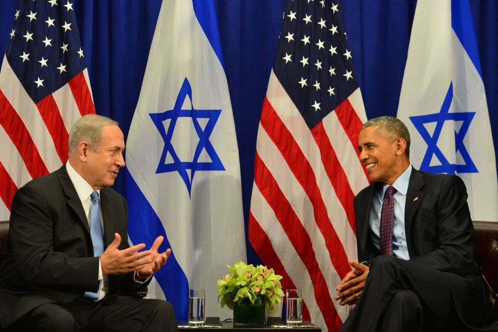 Ex-U.S. President Barack Obama had a fraught relationship with Israeli Prime Minister Benjamin Netanyahu. Here the two met in New York, Septermber 2016 Photo credit: Kobi Gideon/GPO via JINIPIX