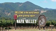 Amazing grapes: Sign welcoming travelers to Napa Valley and the towns of Napa, Yountville and St. Helena. Wikimedia Commons