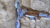 Prayer papers in the western wall
