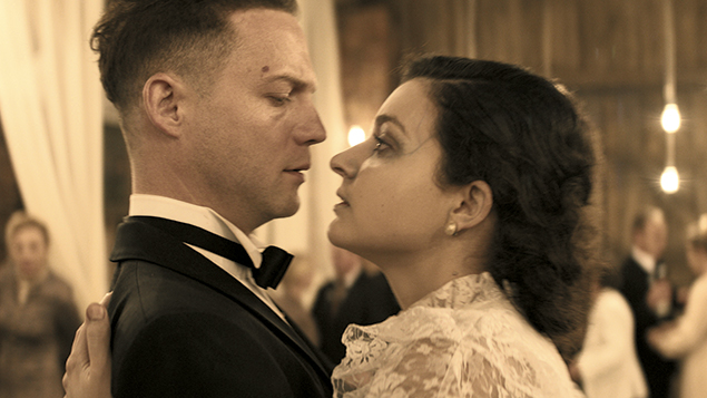 "Itay Tiran and Agnieszka Zulewska star as the newlywed couple in ""Demon."""