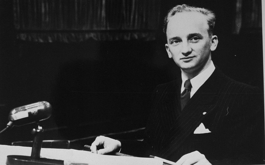 Chief Prosecutor Ben Ferencz successfully prosecuted the Einsatzgruppen Trial during Nuremberg. (Ben Ferencz/USHMM)