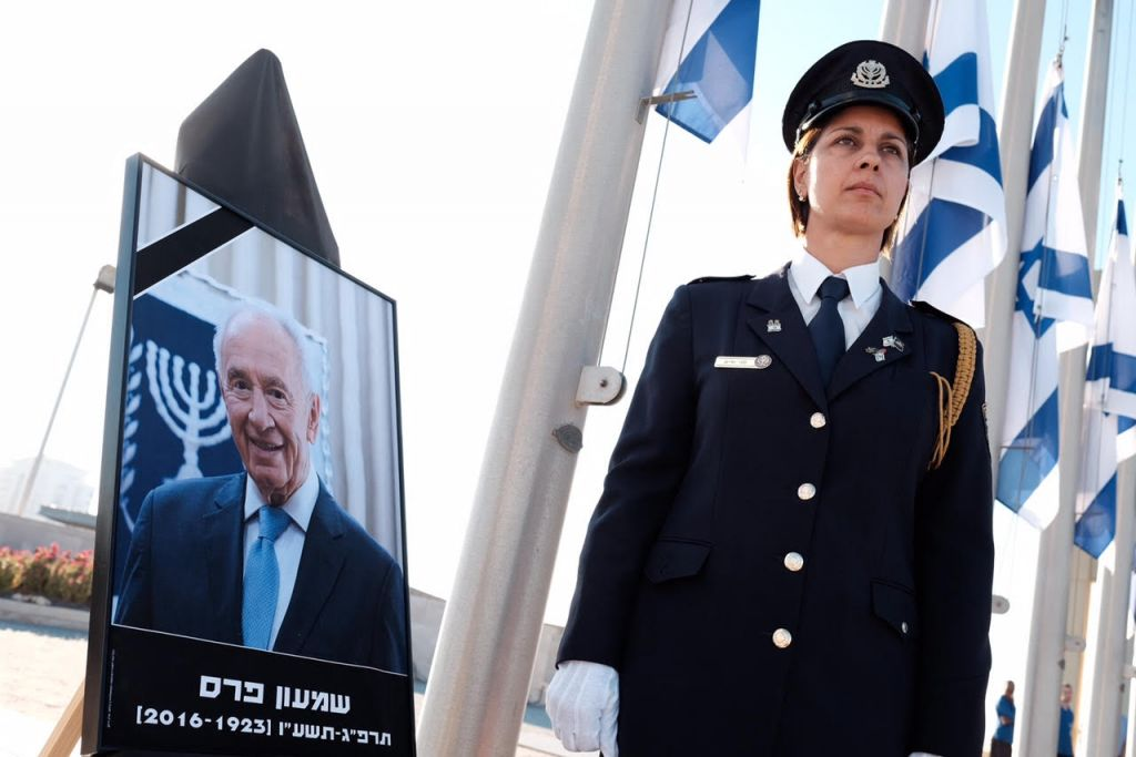 Peres' body is lying in state outside the Knesset