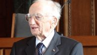 Former Nuremberg trials prosecutor Benjamin Ferencz standing in the courtroom, 2012. Adam Jones/ Wikimedia Commons, CC BY-SA 3.0