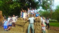 Michael Yoken with students at the farm. Courtesy of CSI