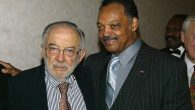 Stanley Sheinbaum and the Rev. Jesse Jackson at an awards dinner and birthday celebration for Jackson in Beverly Hills. JTA