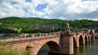 Heidelberg old bridge and castle. Wikimedia Commons
