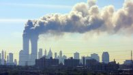 Smoke billowing from the twin towers in New York City on September 11, 2001. JTA