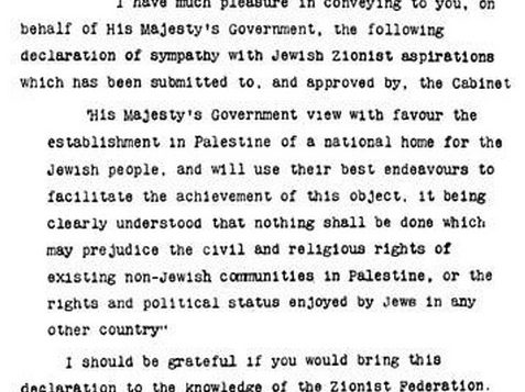 PA Plans to Sue Over Balfour Declaration 1