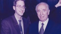 Ben Harris with former Israeli President Shimon Peres in 2001 (Courtesy of Harris)