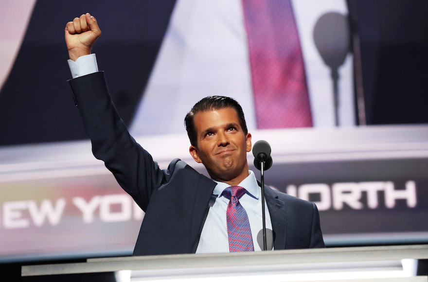 Group wants Donald Trump Jr. to apologize over 'gas chamber' remark