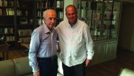 Micah Goodman and friend: A call from then-president of Israel Shimon Peres led to a series of deep conversations. Micah Goodman