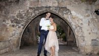 Sheldon Low and Hadar Orshalimy got married in Jaffa, Israel on July 2, 2015. Courtesy of Inbal Marmari