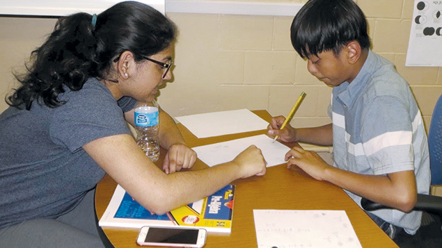 One-on-one tutoring is featured in YMath, the brainchild of Diller winner Zachary Stier.