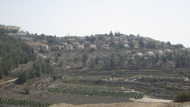 Modern Shilo, a West Bank settlement with more than 3,500 residents, overlooks ancient Shilo.
