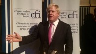 Boris Johnson addressing Conservative Friends of Israel