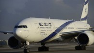 An El Al airline plane at the Tel Aviv's  Ben Gurion Airport on August 17, 2016. (Tomer Neuberg/Flash90)