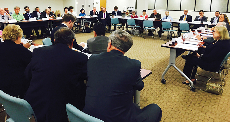 County, state, and federal officials meet at the annual legislative gathering, convened by the JCRC, at the Paramus offices of the Jewish Federation of Northern New Jersey.