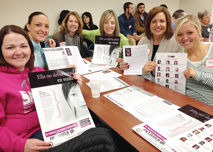 Women from the JCRC join others from across the county — and the country — to fight human trafficking.