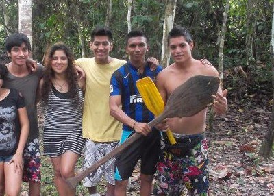 Members of the Jewish community of Iquitos, Peru, visit the nearby Amazon rainforest in this November, 2012 photo. (Facebook)