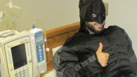 In costume – Batman today – or in street clothes, D.J. Cohen brings an upbeat attitude to Memorial Sloan-Kettering.