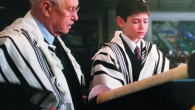 Judah Marans and his grandfather, Paul Kampler, at Judah's bar mitzvah.