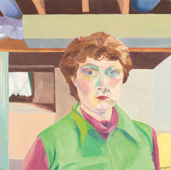 Miriam Stern painted this self-portrait in 1980.