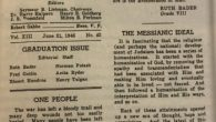 """An essay written by a 13-year-old Ruth Bader Ginsburg in the East Midwood Jewish Center's bulletin (""""My Own Words""""). JTA"""