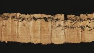 2,700 year old papyrus found with Hebrew letters. The Israel Antiquities Authority