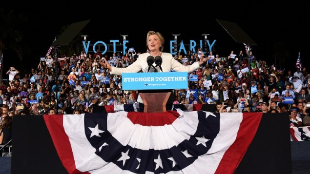 Hillary Clinton Campaigns Across Florida