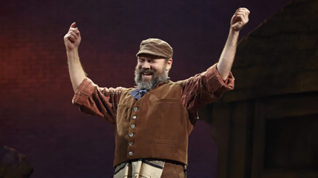 "The God-arguer: Danny Burstein as Tevye in the current production of ""Fiddler on the Roof,"" which closes Dec. 31. Joan Marcus"