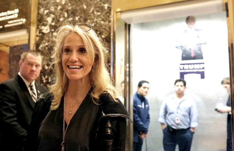Kellyanne Conway, campaign manager for President-elect Donald Trump, arrives to Trump Tower on November 12, 2016 in New York City, November 12, 2016. (Yana Paskova/Getty Images/AFP)